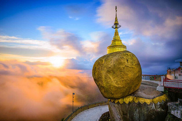 Golden Rock - Myanmar holiday packages from India