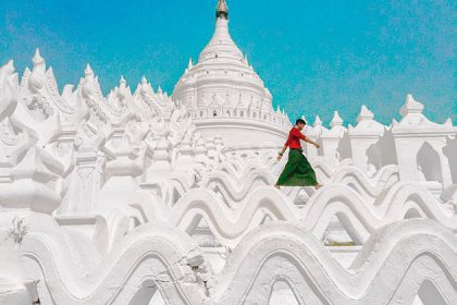 Hsinbyume Temple in Mingun - attraction for Myanmar trip from India