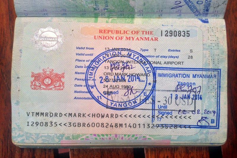 Myanmar visa - how to get myanmar visa for india citizens