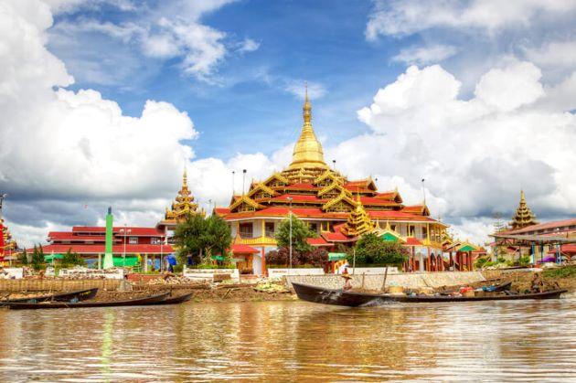 Phaung Daw Oo Pagoda in Myanmar