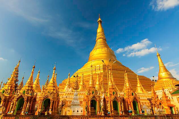 Shwedagon pagoda - highlight of Yangon