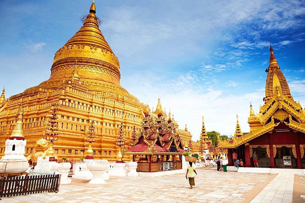 Shwezigon Pagoda - destination for burma honeymoon