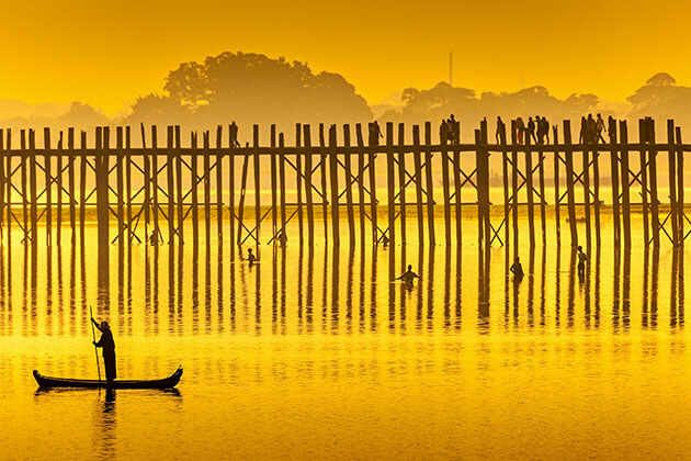 U bein bridge sunset