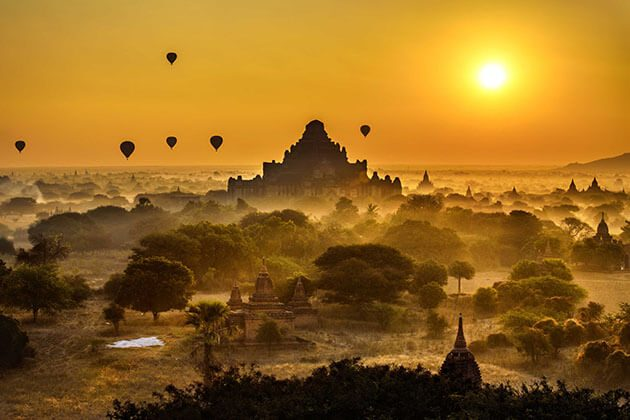 bagan sunset from sunset hill