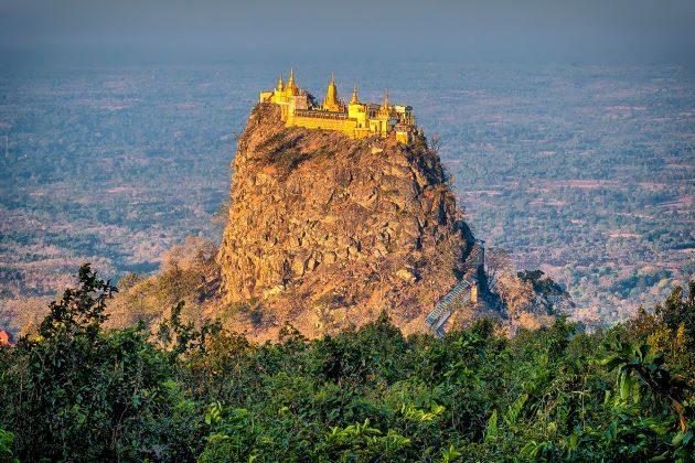 discover mount popa in myanmar