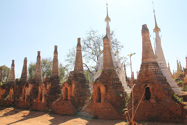indein ancient temple in Inle Lake