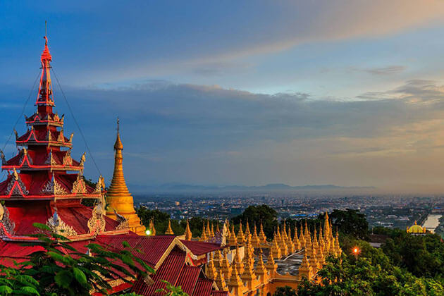 mandalay hill - famous place to visit in mandalay