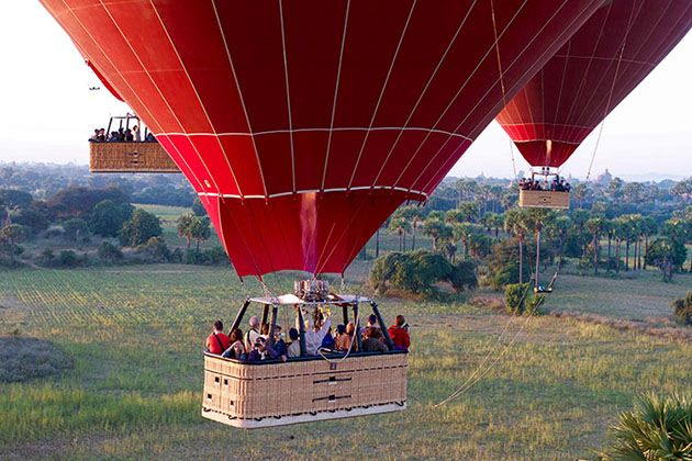 myanmar weather in november - best time to take hot air balloon