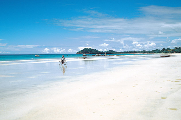 ngapali beach relaxation in Myanmar honeymoon from India