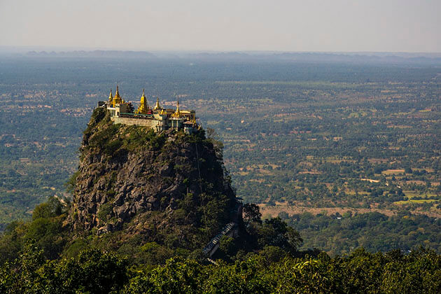 the sacred mount popa in bagan
